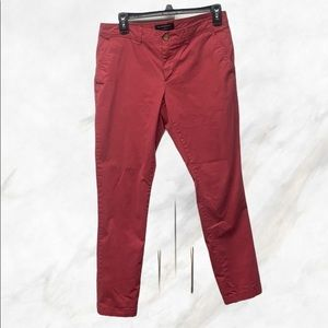 Banana Republic Red Girlfriend Fit Jeans